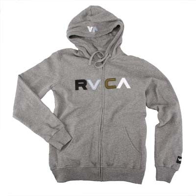 RVCA Logo Men's Sweatshirt  - Gray Noise