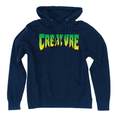 Creature Logo Pullover Hooded L/S - Navy - Men's Sweatshirt