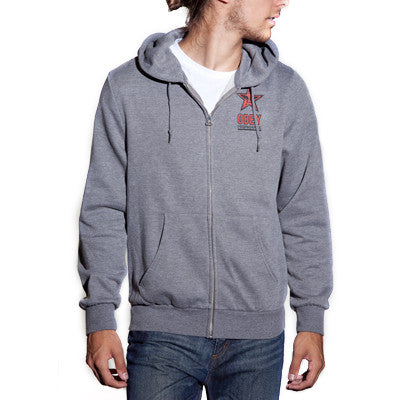 Obey OG Star Men's Sweatshirt - Heather Grey - Small