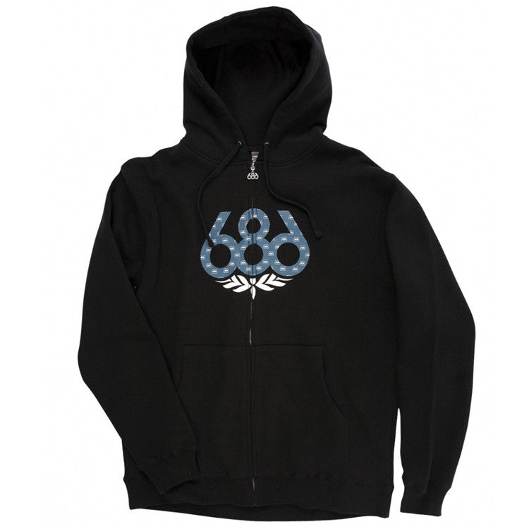 687 Wreath Men's Sweatshirt - Black