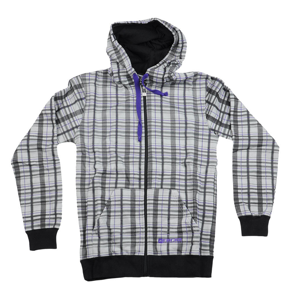 Ride Plaid Full Men's Sweatshirt - Grey Plaid