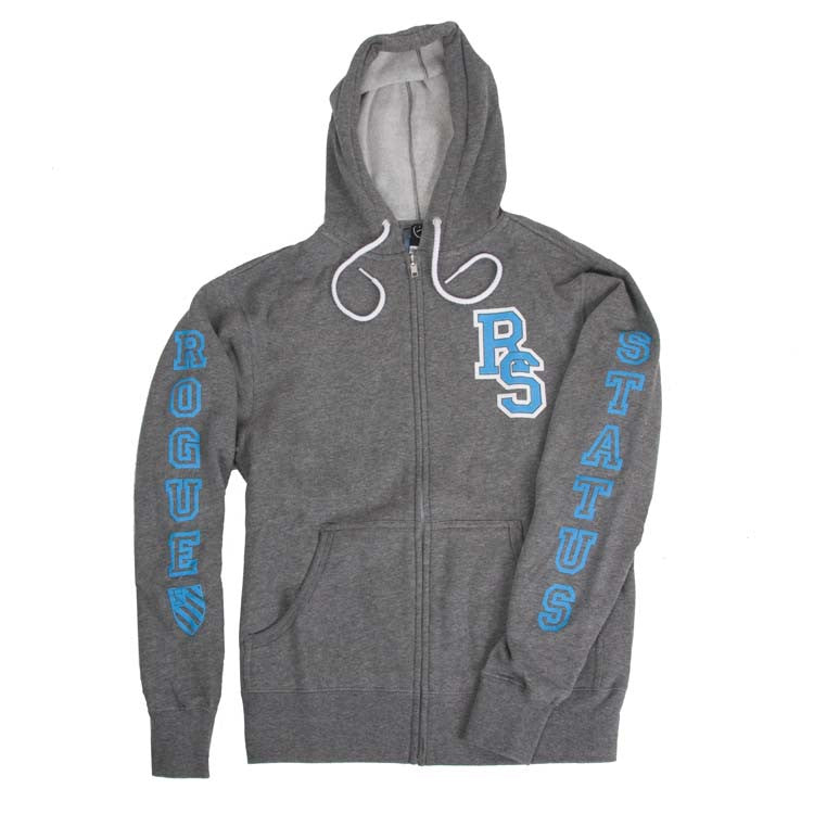 Rogue Status Collegiate RS Men's Sweatshirt - Gunmetal/Heather/Turquoise