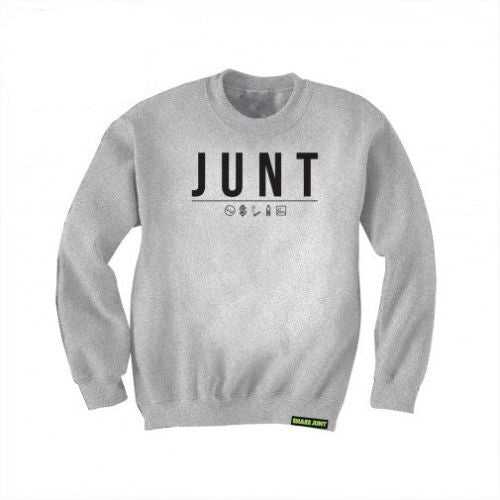 Shake Junt Code Crew Neck Men's Sweatshirt - Grey/Black