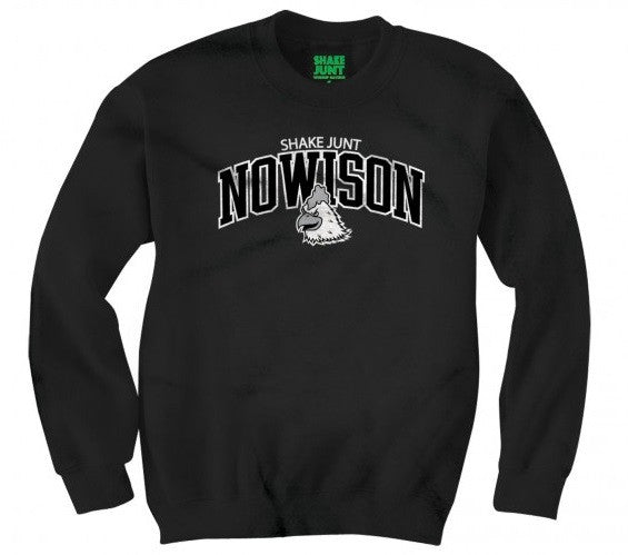 Shake Junt Mascot Crew Neck Men's Sweatshirt - Black