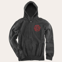 Slave Loaded Zip Hooded Sweatshirt - Black