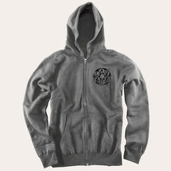 Slave Loaded Zip Hooded Sweatshirt - Grey