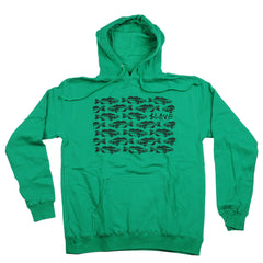 Slave Bass Destruction Pullover Hood - Green/Black - Sweatshirt