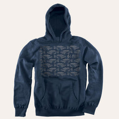Slave Bass Destruction Pullover Hood - Navy/Grey - Sweatshirt