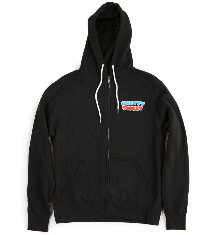 Pretty Sweet Zip Hooded Men's Sweatshirt - Black