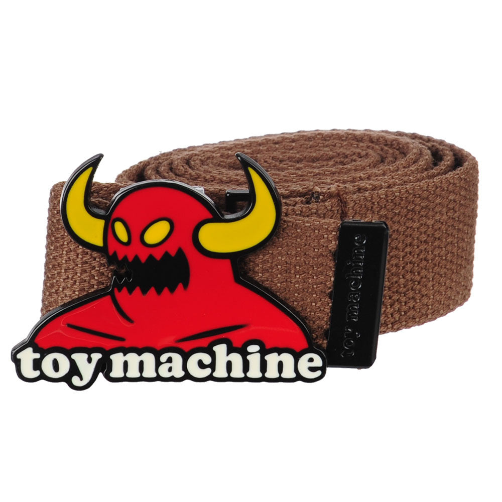Toy Machine Monster Buckle  Men's Belt - Brown