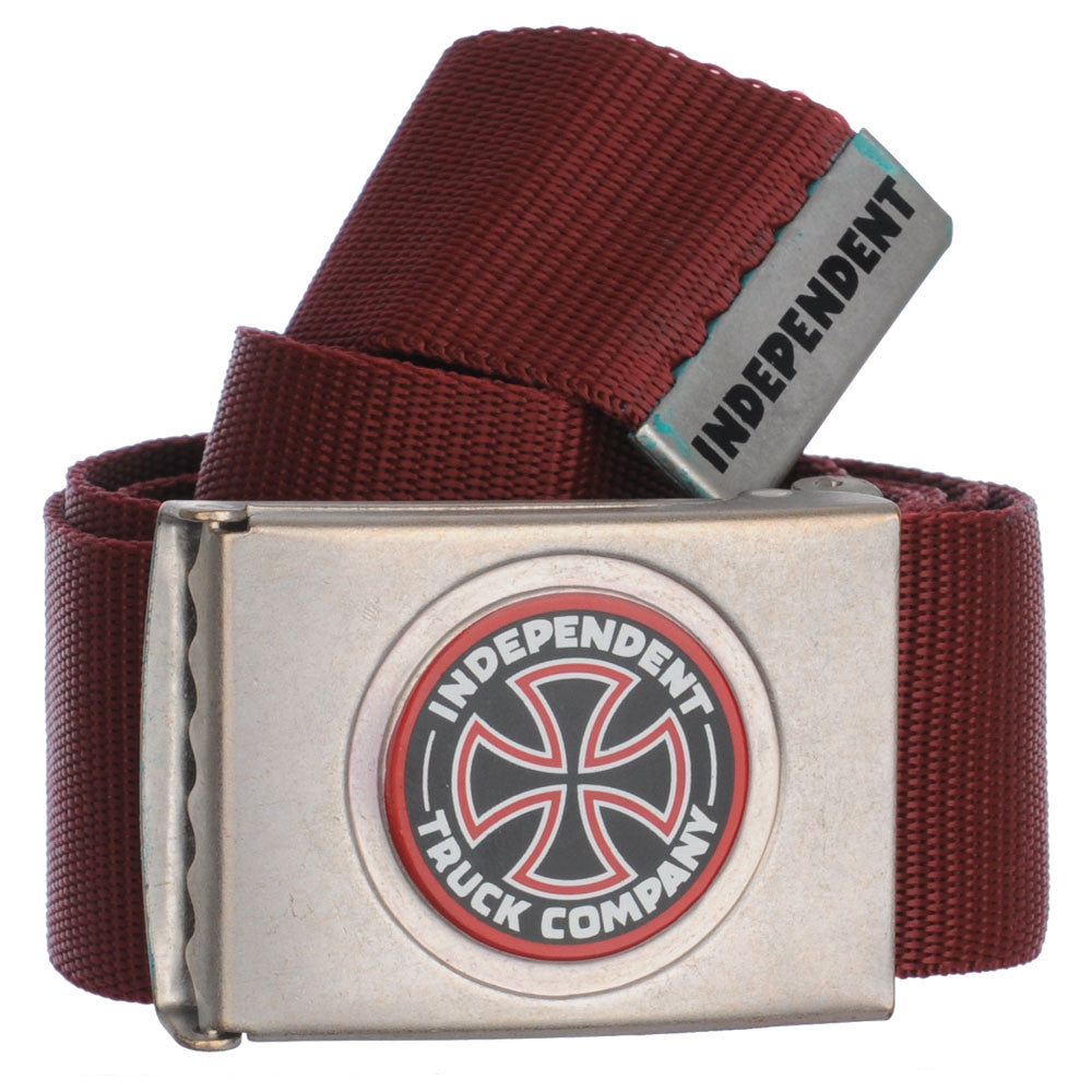 Independent Revert Web Mens Belt - Ox Blood OS
