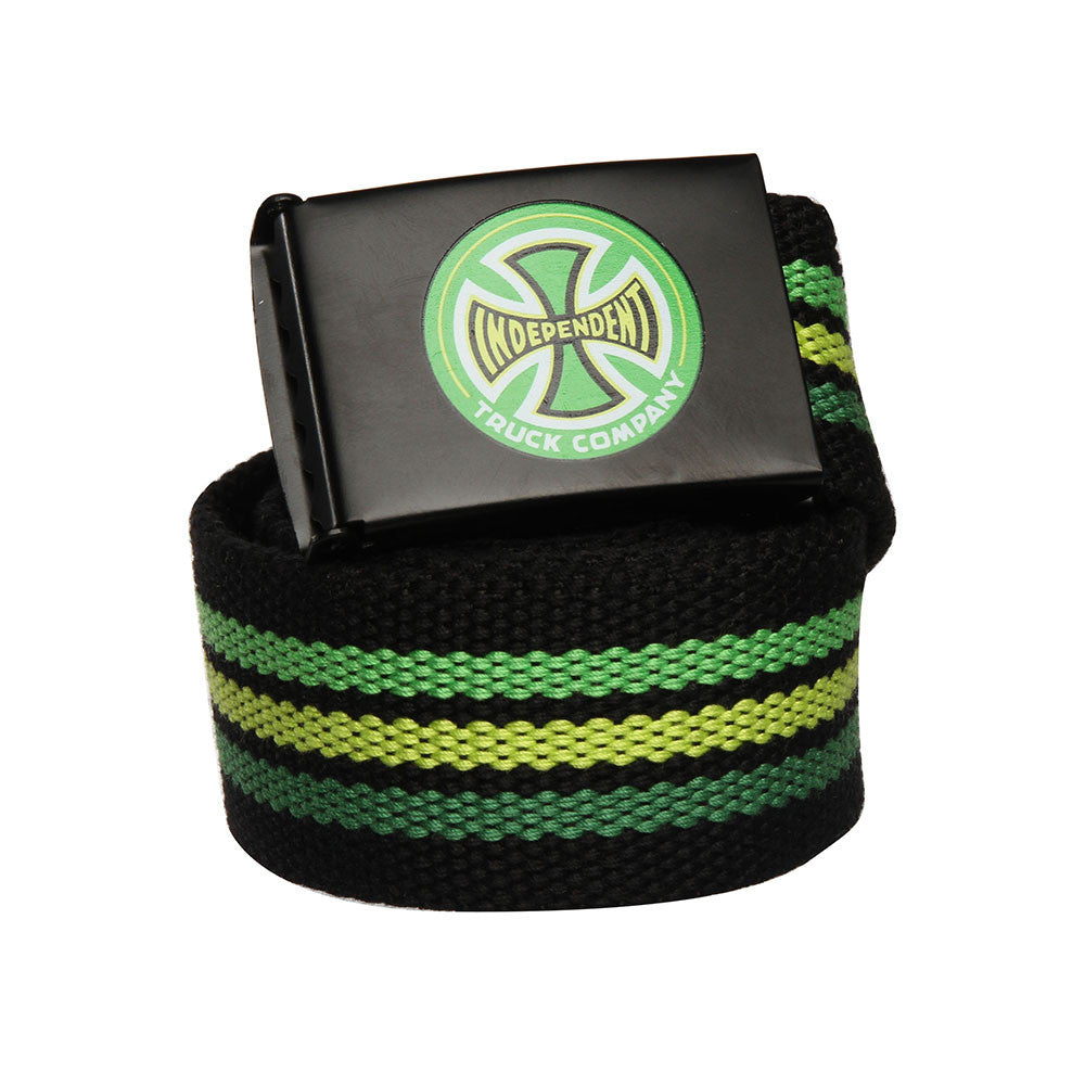 Independent Stripes T/C Web Belt - Black - OS Unisex