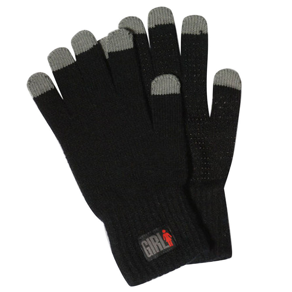 Girl IPhone Touch Gloves - Black