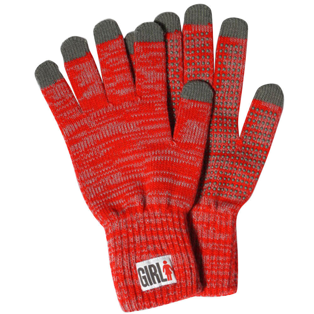 Girl IPhone Touch Gloves - Heather Red