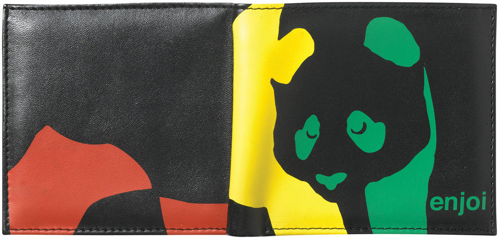 Enjoi Panda Wallet - Black/Rasta