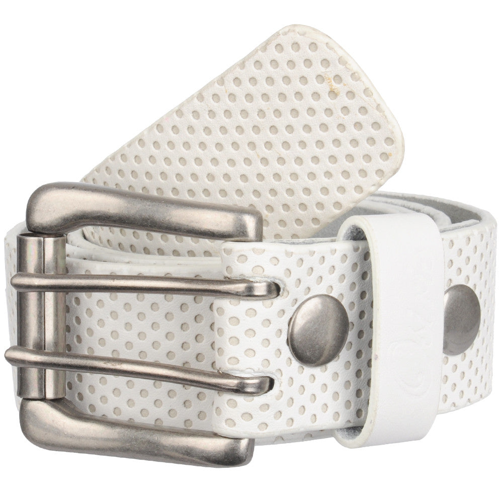 Osiris Perforated Men's Belt - One Size Fits All - White