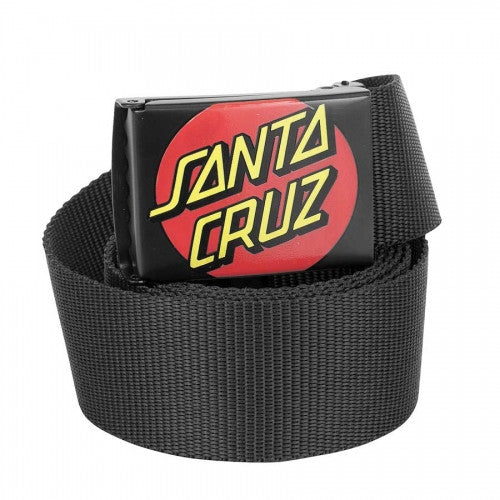 Santa Cruz Classic Dot Web OS Mens Belt - Black