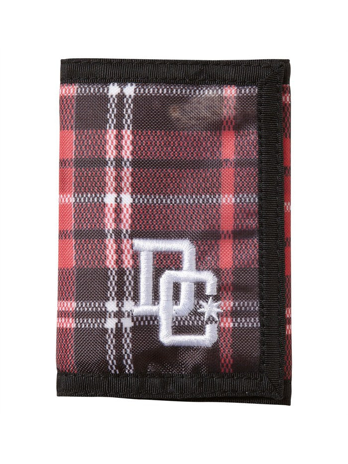 DC Plaidbar Men's Wallet - Deep Red Plaid