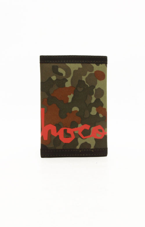 Chocolate Big Chunk Velcro Men's Wallet - Camo