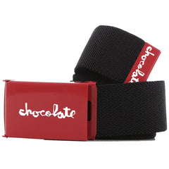 Chocolate Red Square Men's Belt - Black