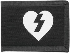 Mystery Heart Canvas Wallet - Black
