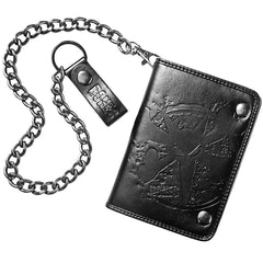 Bones Embossed Rat In Box Wallet