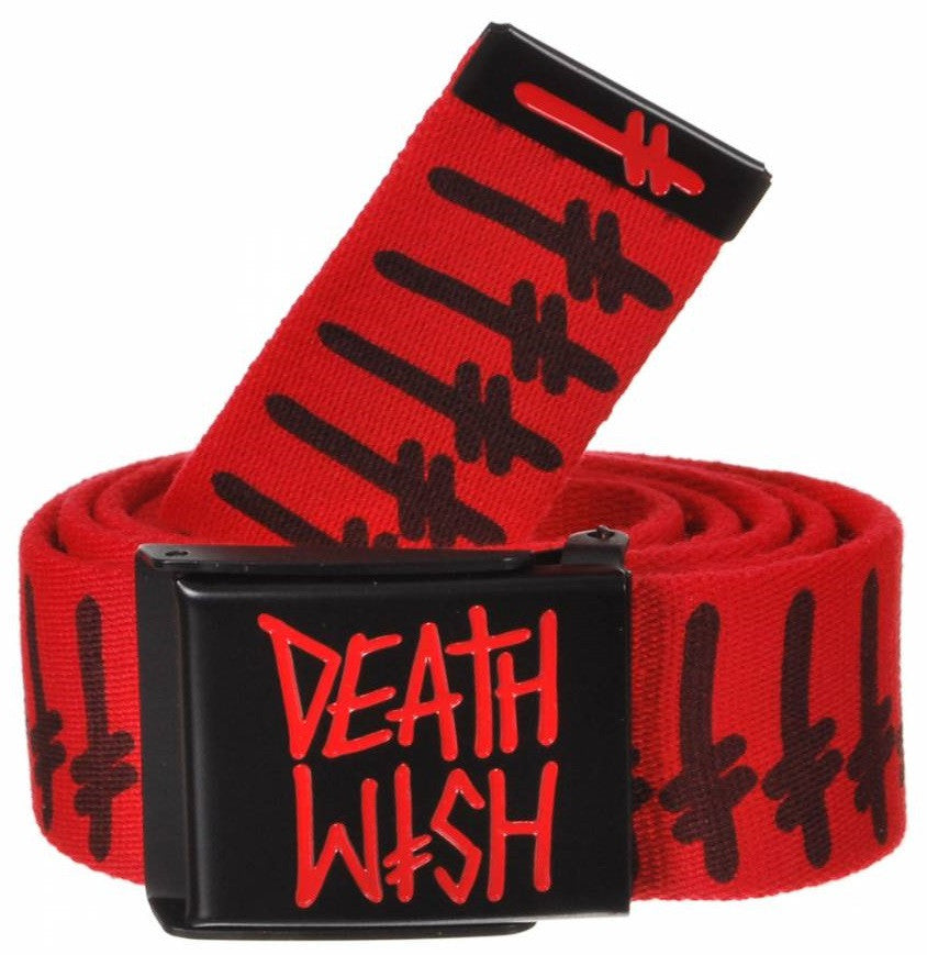Deathwish DW Gang Logo Bullet Men's Belt - Red