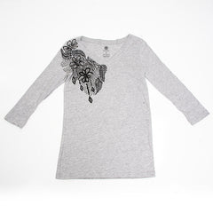 Element Cascade Women's Long Sleeve Shirt - Heather Grey - Medium