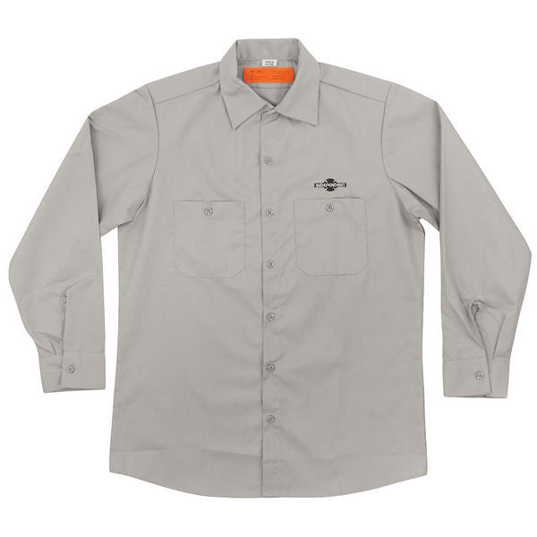 Independent Daily Grind L/S Top - Light Grey - Men's Collared Shirt