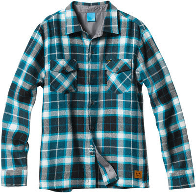 Enjoi Not Bad Plaid L/S Woven Men's Collared Shirt - Turquoise