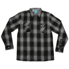 Enjoi Your Friends Shirt L/S Woven Men's Collared Shirt - Grey - Small