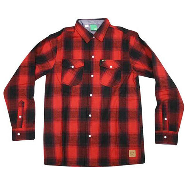 Enjoi Your Friends Shirt L/S Woven Men's Collared Shirt - Red