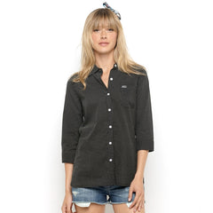 Roxy Free Hights Women's Collared Shirt - Black - Extra Large