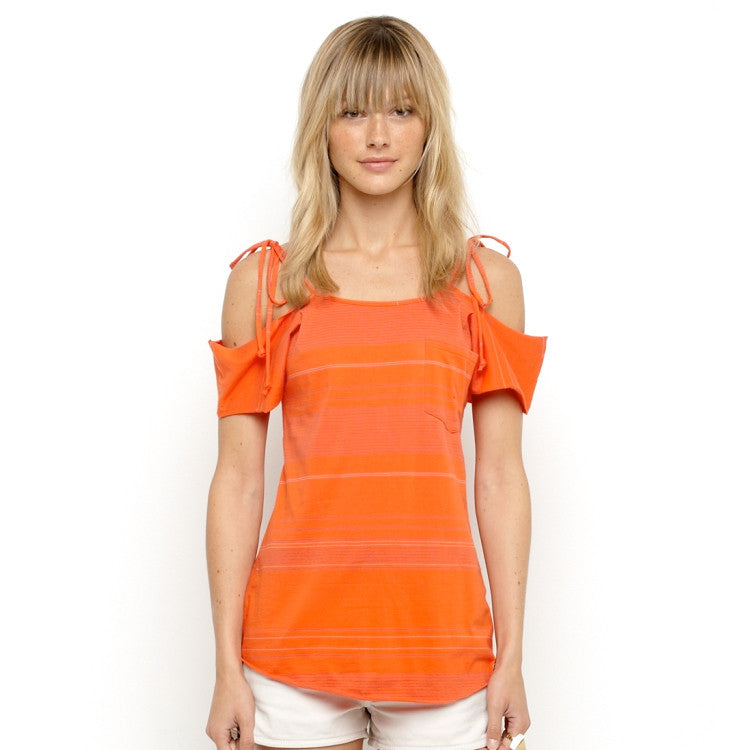Roxy Local Deconstructed Women's Shirt - Spicey Orange