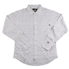 Planet Earth Loki Print Men's Collared Shirt - White