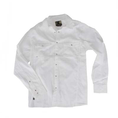 Planet Earth Dobbin Men's Collared Shirt - Earth/White - Small
