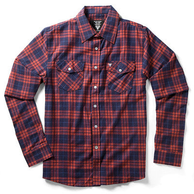 Fallen Cheyenne Men's Collared Shirt - Red/Navy - Medium