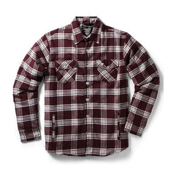 Fallen Cheyenne DLX Men's Collared Shirt - Plum - Large
