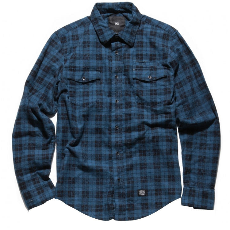 KR3W Marion Men's Collared Shirt - Blue - Medium