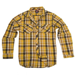 Quiksilver Burnin Men's Collared Shirt - Mellow Yellow - Medium