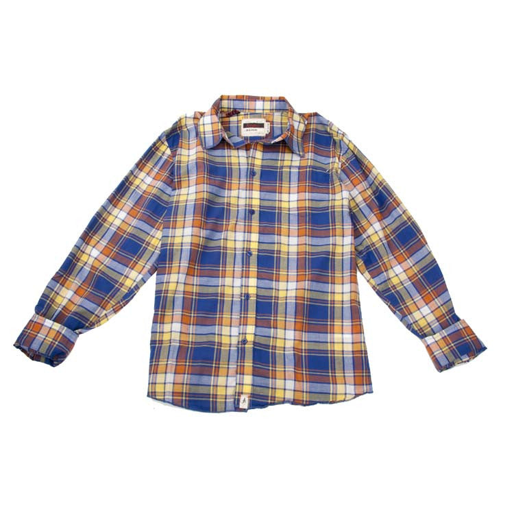 Altamont Foreigner Men's Collared Shirt - Blue - X Large