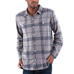 LRG Fight On Woven Men's Collared Shirt - Natural - XX Large