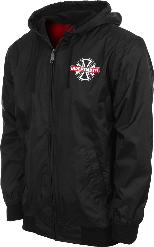 Independent Condition Hooded Men's Windbreaker Jacket - Black - Medium