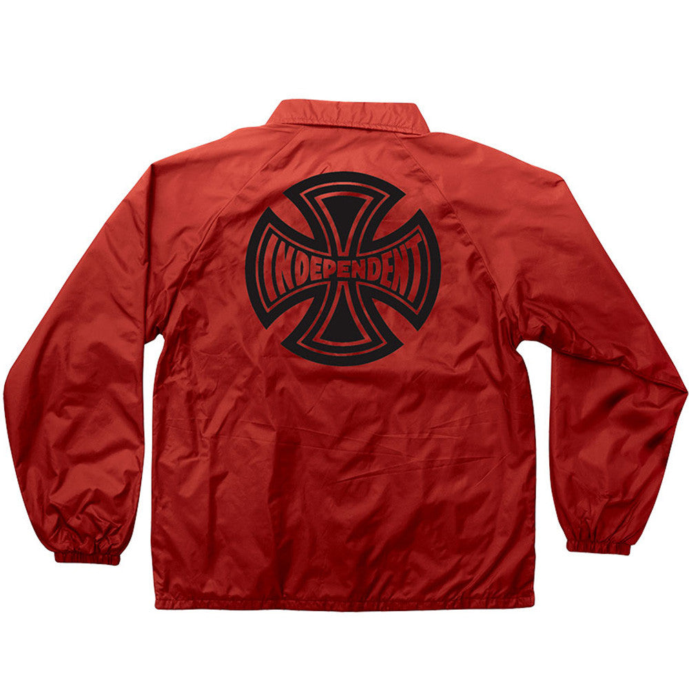 Independent Subdue Coach Windbreaker Men's Jacket - Red