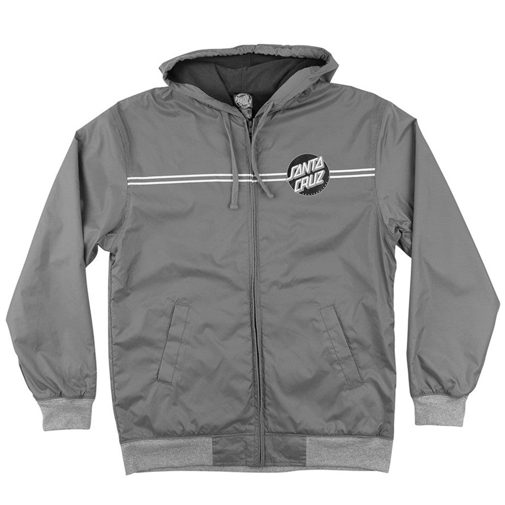 Santa Cruz Dot Hooded Windbreaker Men's Jacket - Charcoal