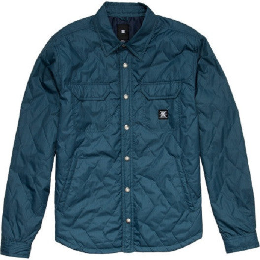 DC Munich Men's Jacket - Army Blue Herringbone