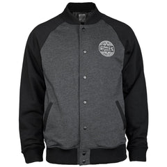 Bones Varsity Men's Jacket - Grey/Black