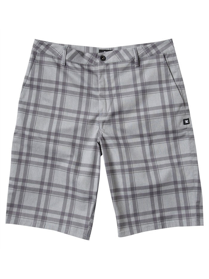 DC Chino Men's Shorts - Grey Plaid