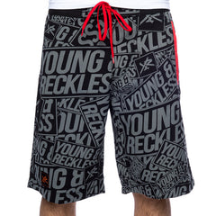 Young and Reckless Scattered Men's Boardshorts - Black