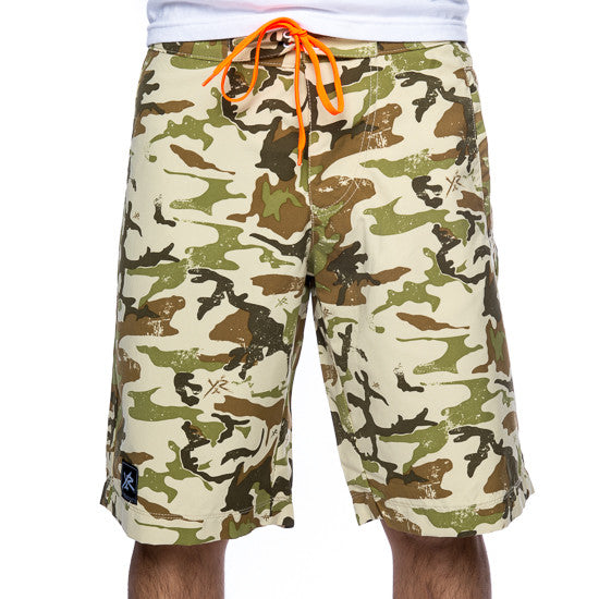 Young and Reckless Men's Boardshorts - Camo